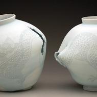 Moon Jars with Dragon